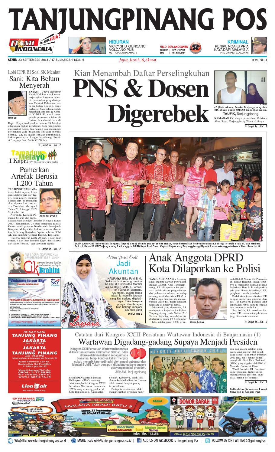 epaper tanjungpinangpos 23 september 2013 by
