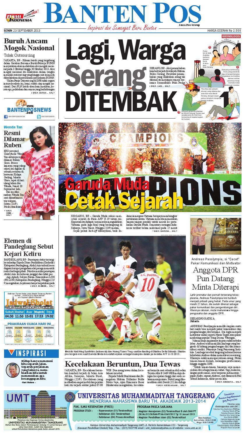 Banten Pos Edisi Senin 23 September 2013 By Bantenpos Issuu Produk Umkm Bumn Kapal Batok Lebak