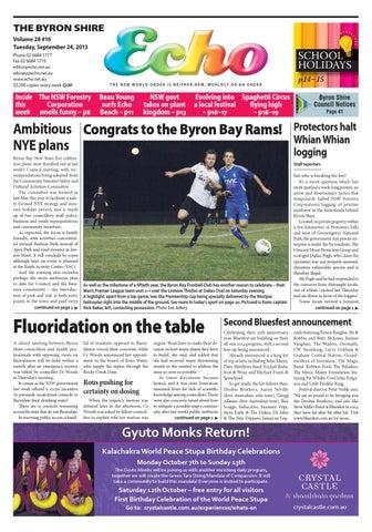 04bf704c378c0 Byron Shire Echo – Issue 28.16 – 24 09 2013 by Echo Publications - issuu