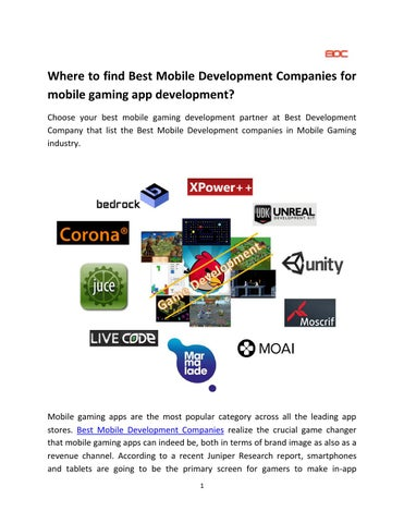 Where to find Best Mobile Development Companies for mobile gaming