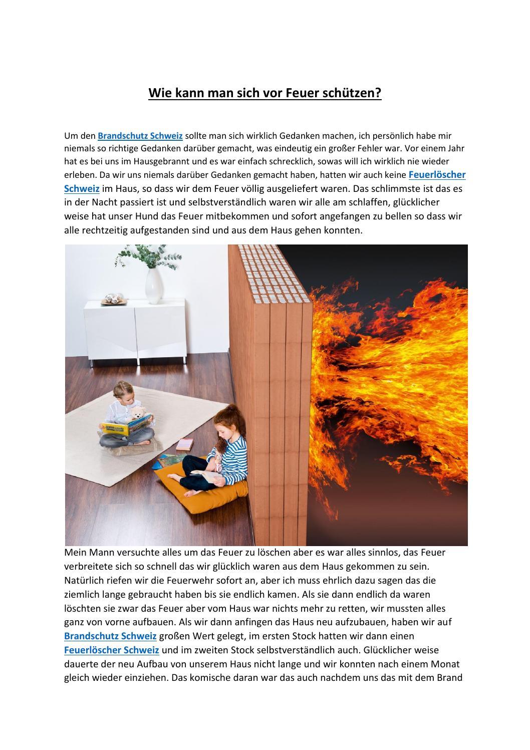 wie kann man sich vor feuer sch tzen by andra issuu. Black Bedroom Furniture Sets. Home Design Ideas