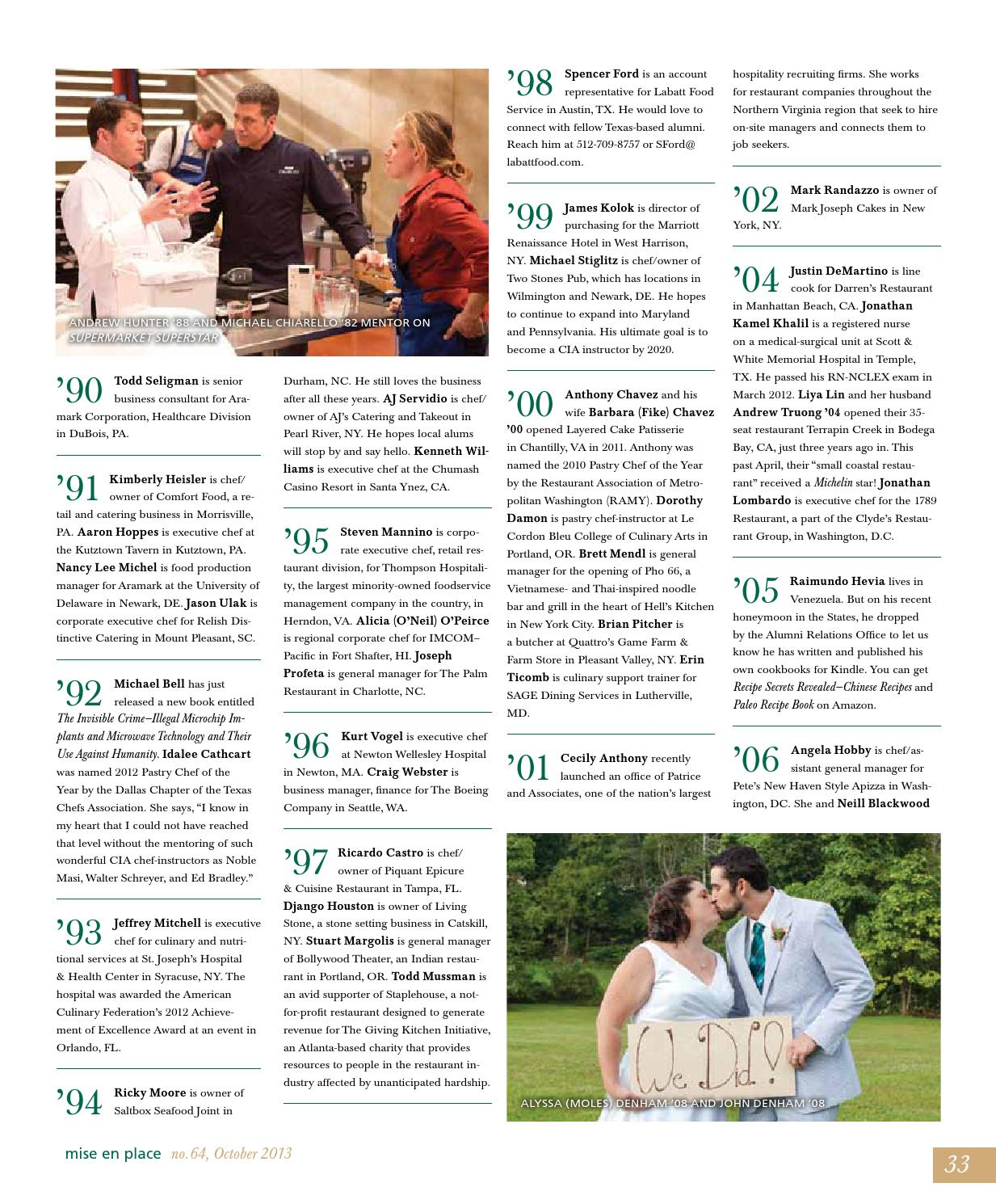 Mise En Place Issue 64 Legacy Issue by The Culinary Institute of ...