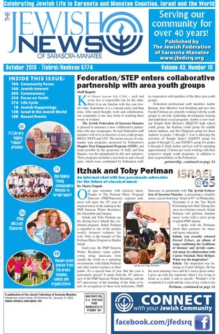 8916f8cafd072 The Jewish News - October 2013 by The Jewish Federation of Sarasota ...