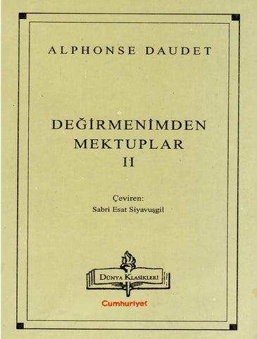 Alphonse Daudet Degirmenimden Mektuplar Ii By Hunturk1966 Issuu
