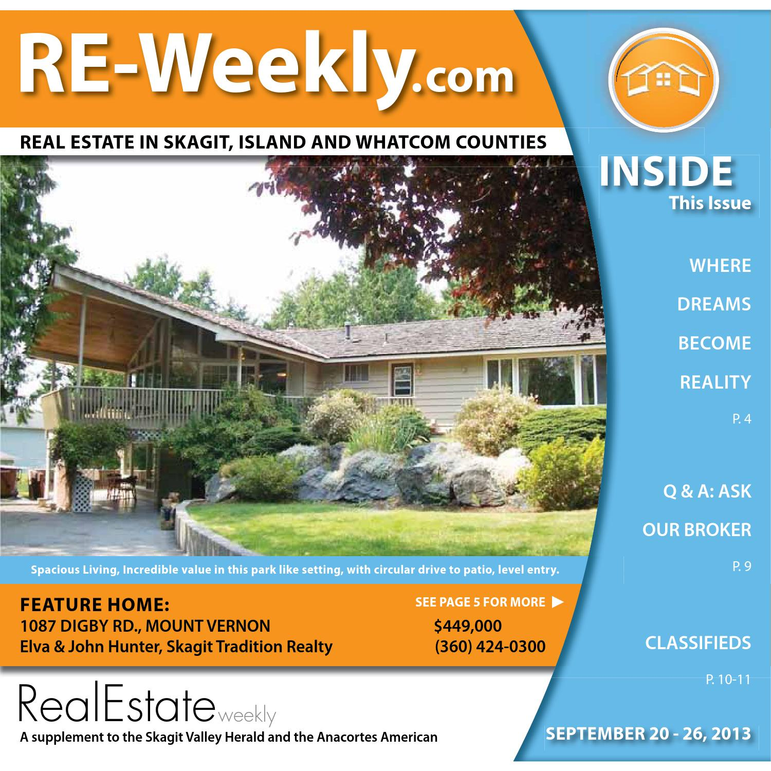 Real Estate Weekly | September 20, 2013 by Skagit Publishing