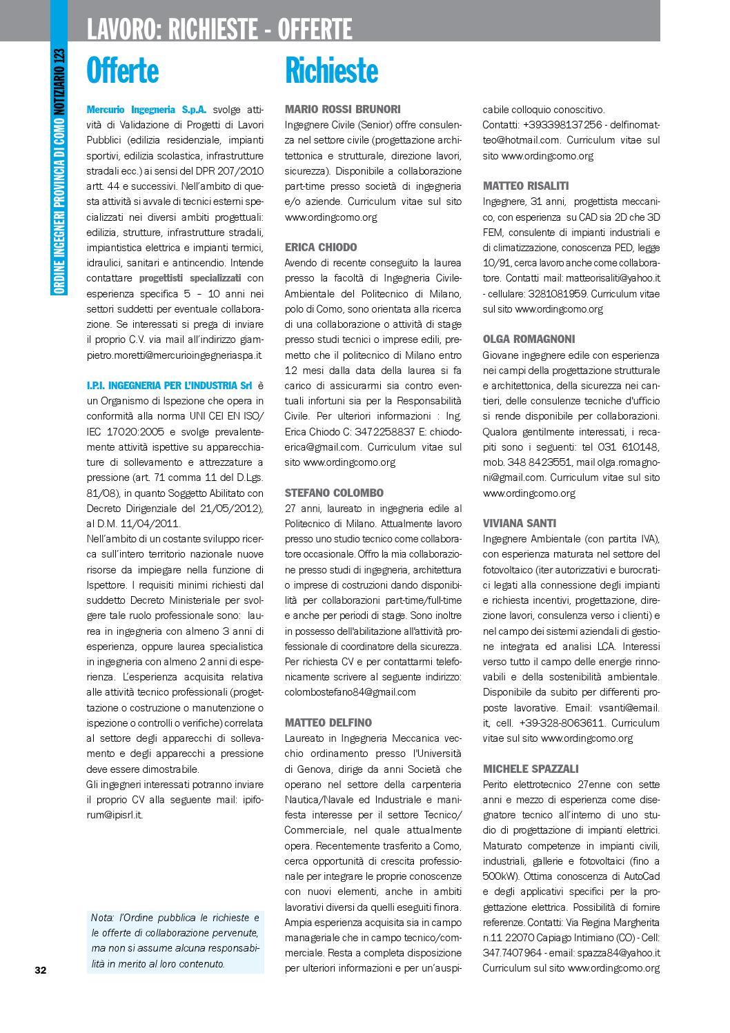 Notiziario 123 By Ordine Degli Ingegneri Della Provincia Di