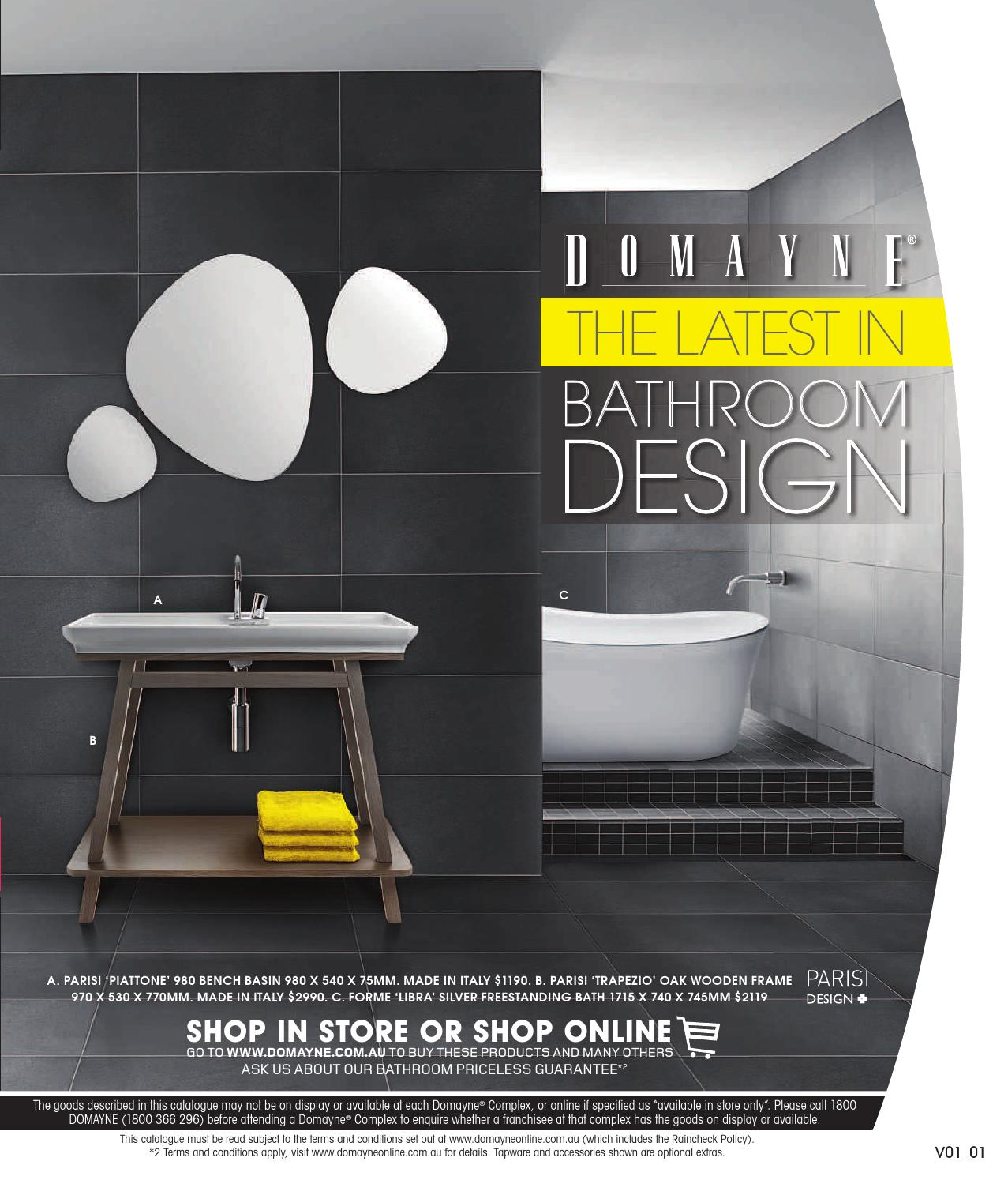 The Latest In Bathroom Design By Domayne Issuu