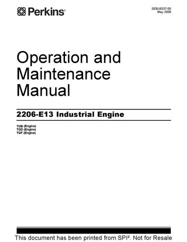 operation and maintenance manual for 2206 e13 industrial engine by rh issuu com Operation and Maintenance Manual Gilbert General Contractor Operations and Maintenance Manual