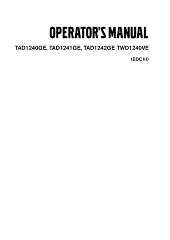 volvo operators manual tad1240ge tad1241ge tad1242ge twd1240ve by rh issuu com