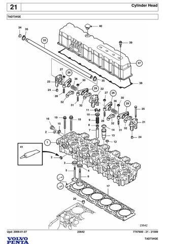 mechanical manual volvo motor tad734ge
