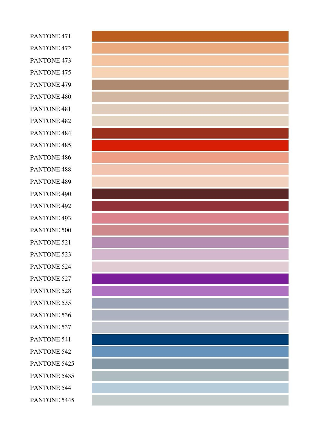 CARTA COLORES PANTONE by ttmanager - issuu
