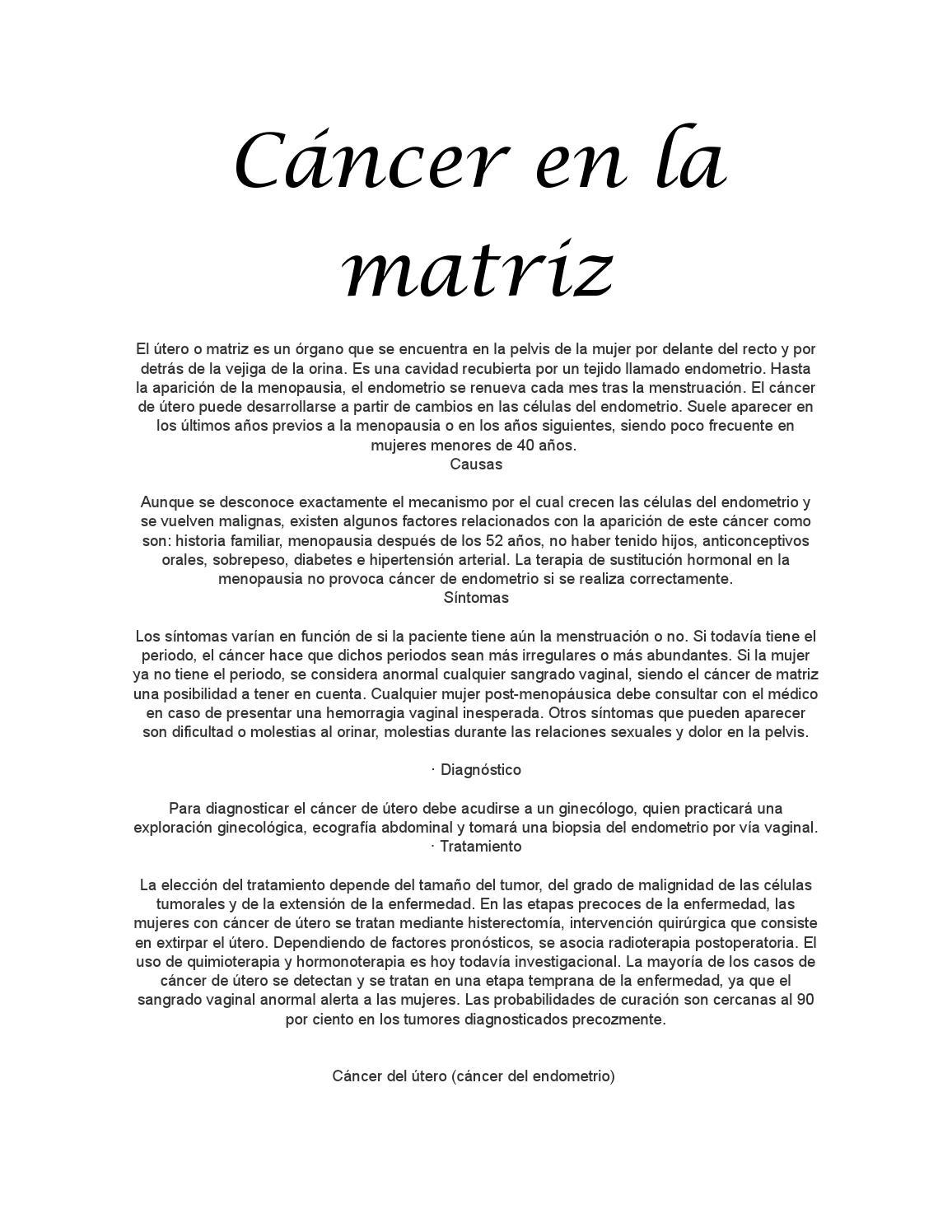 Cáncer En La Matriz By Edifer Issuu