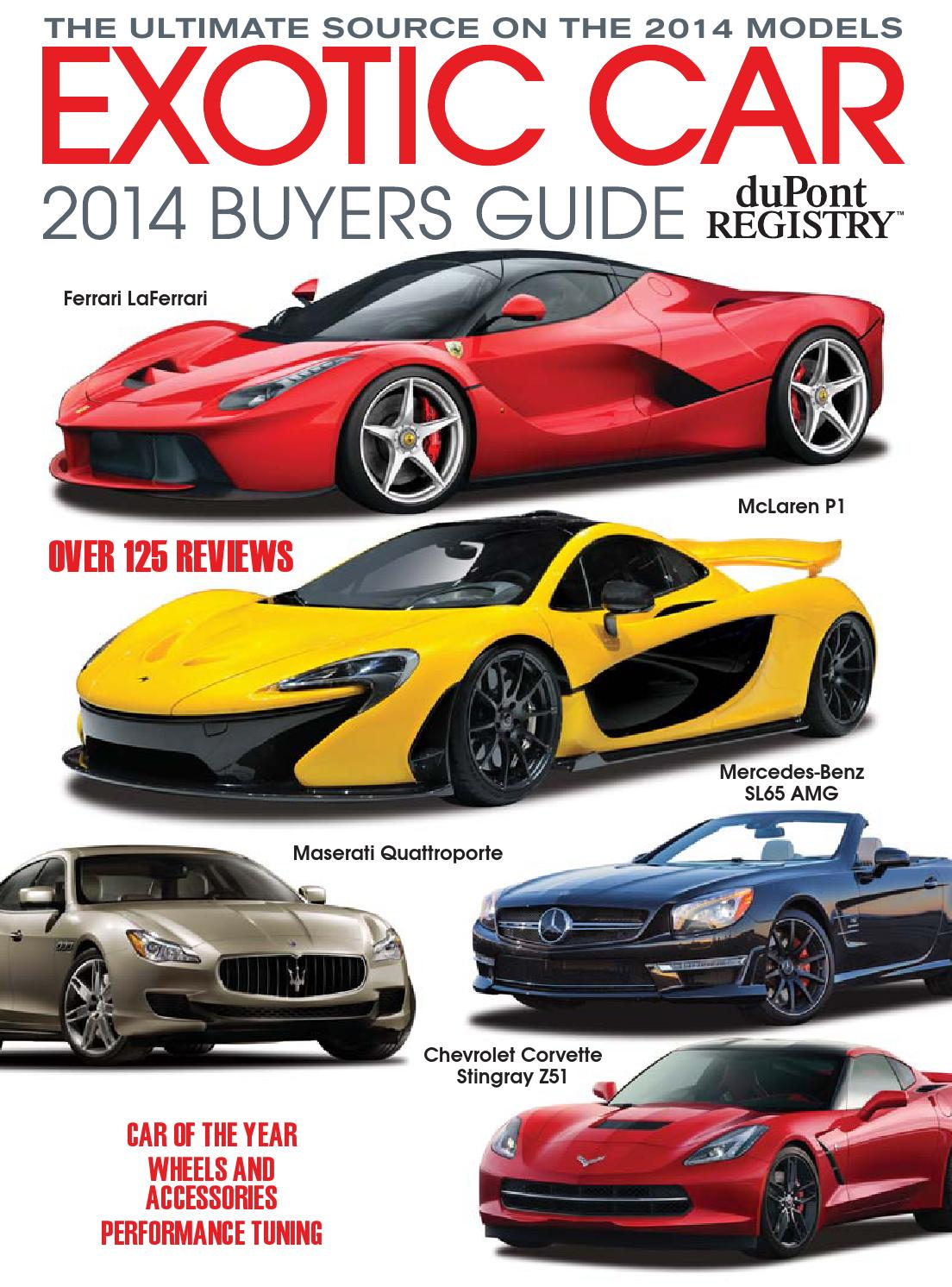 DuPontREGISTRYu0027s Exotic Car Buyers Guide 2014 By DuPont REGISTRY   Issuu