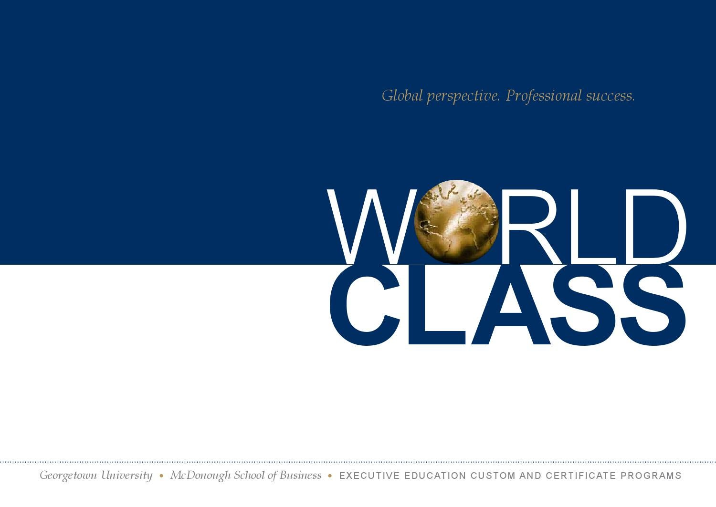 Georgetown Executive Education Brochure By Georgetown University