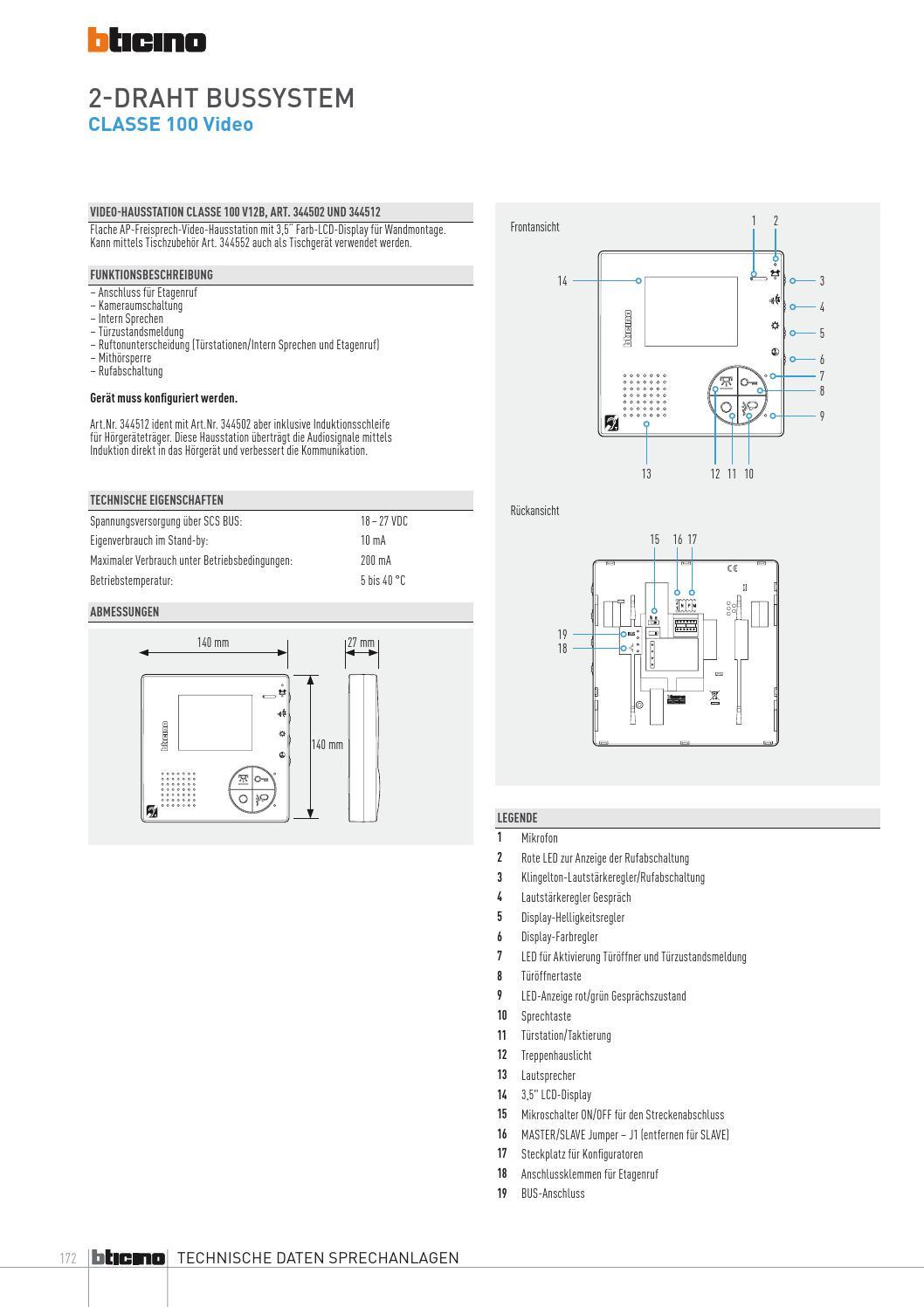 Bticino Tuersprechanlagen Katalog 2013 by Legrand Austria GmbH - issuu
