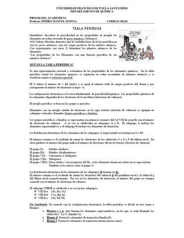 Tabla periodica de los elementos quimicos by pedro soto issuu page 1 urtaz Choice Image