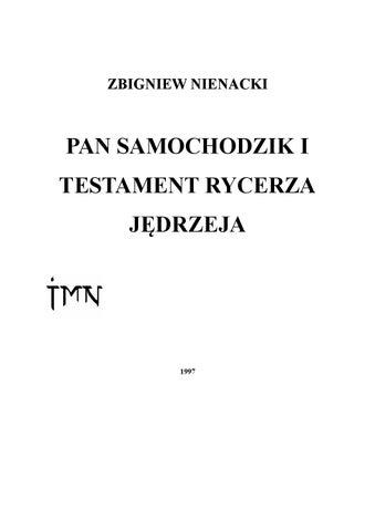 Pl Pan Samochodzik I Testament Rycerza Jedrzeja By Frankie