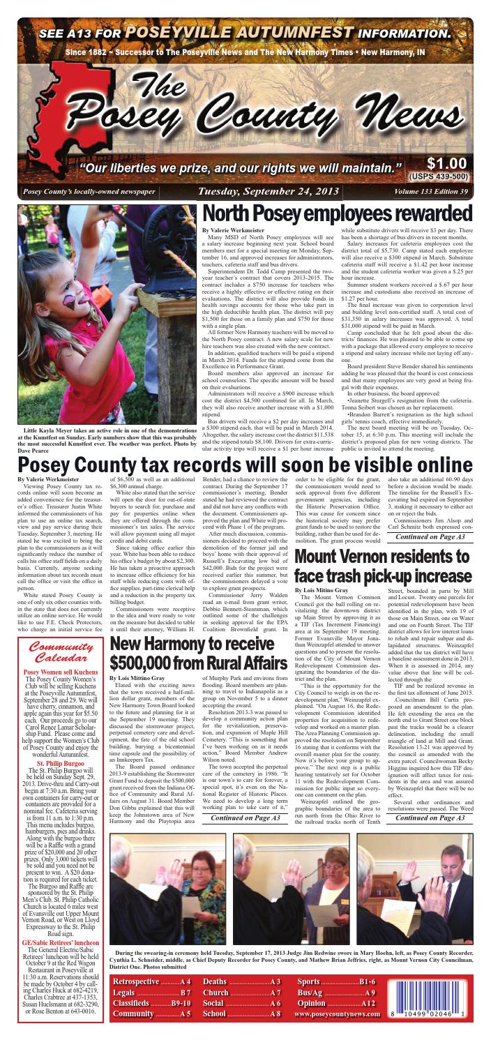 september 24 2013 the posey county news by the posey county news issuu