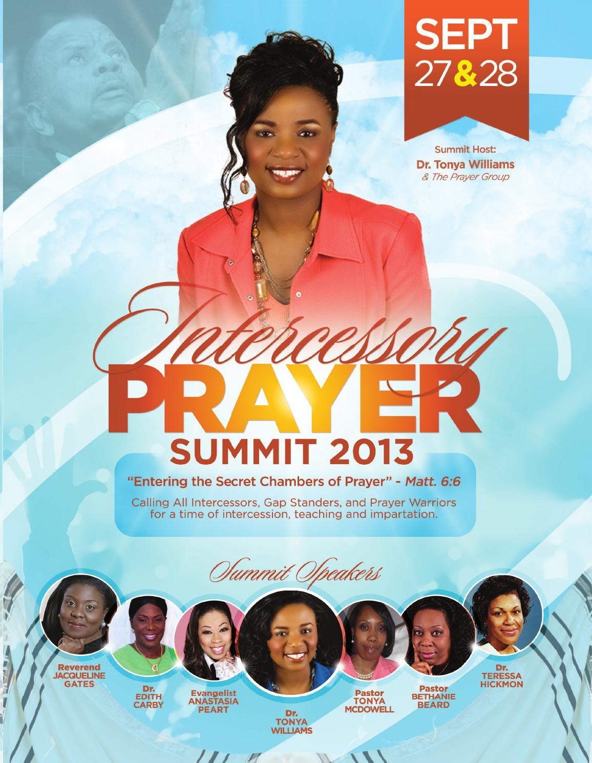 Intercessory Prayer Summit By Dr Tonya Williams