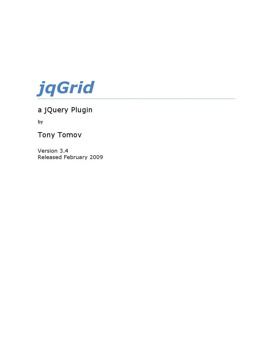 Jqgriddocs pages 1 50 text version | fliphtml5.