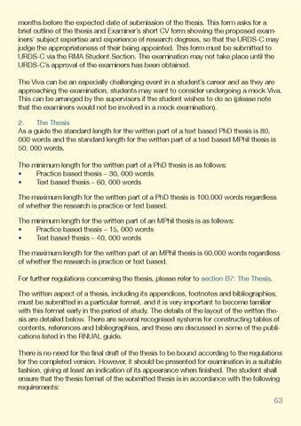 mphil thesis length