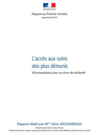 Rapport officiel aline archimbaud   CMU et accès aux soins by la1ere ... 1e545f268bb6