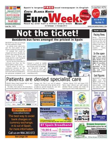 Euro Weekly News - Costa Blanca North 26 September - 2 October 2013 ... 04862dae25d9