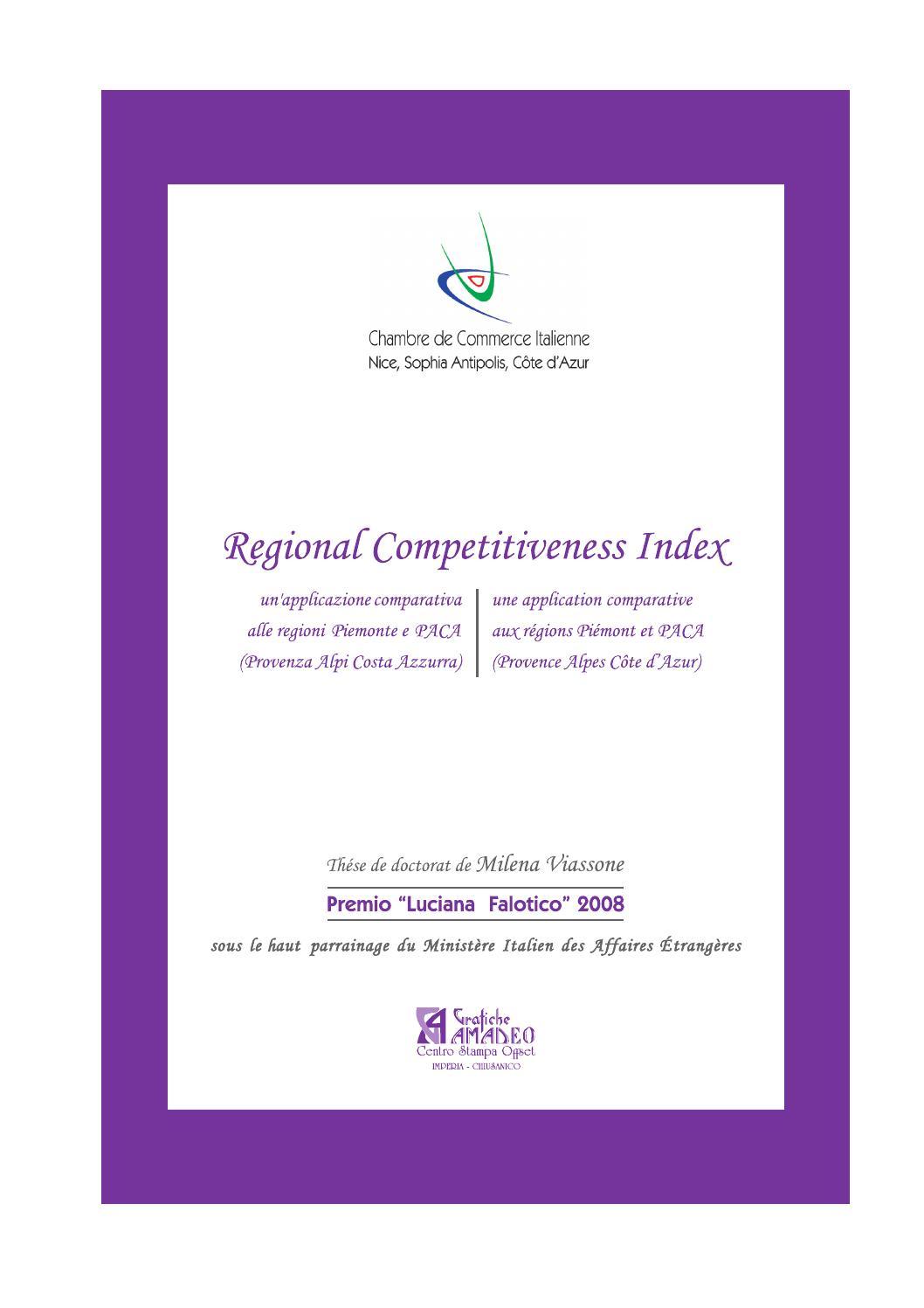 Regional competitiveness index un 39 applicazione - Chambre de commerce italienne de nice ...