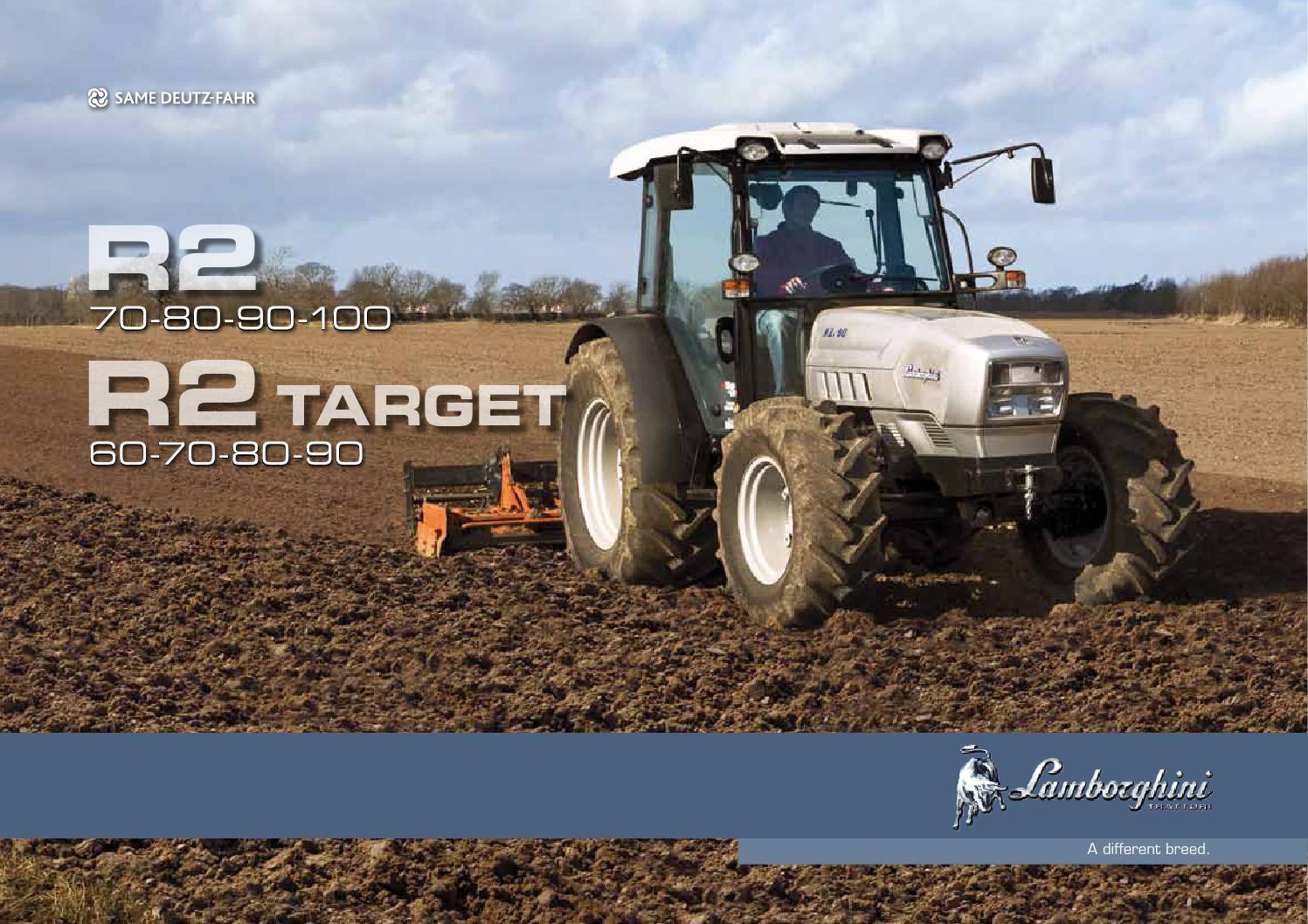R2 Target Brochure Pt By Lamborghini Trattori Issuu Tractor Light Wiring 2v