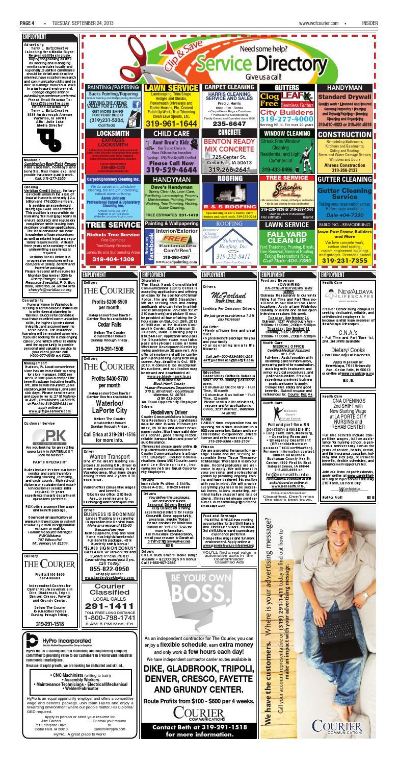 Insider 092413 by Waterloo-Cedar Falls Courier - issuu