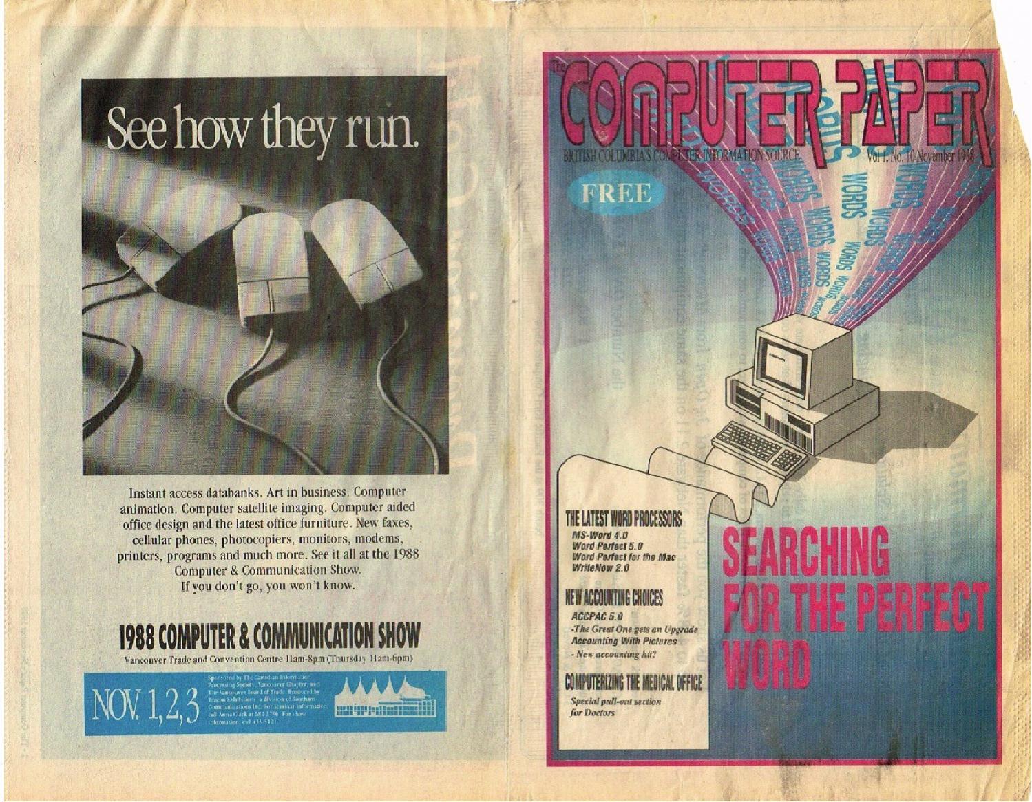 Fra Utgitt 11 Datapapiret Paper 1988 Computer pwf8qBnE