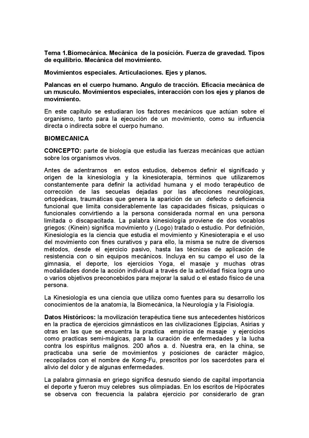 Biomecanica by Jhonny Encarnacion - issuu