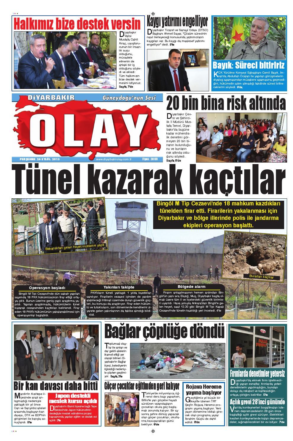 26 09 2013 Gazete Sayfalari By Diyarbakir Olaygazetesi Issuu