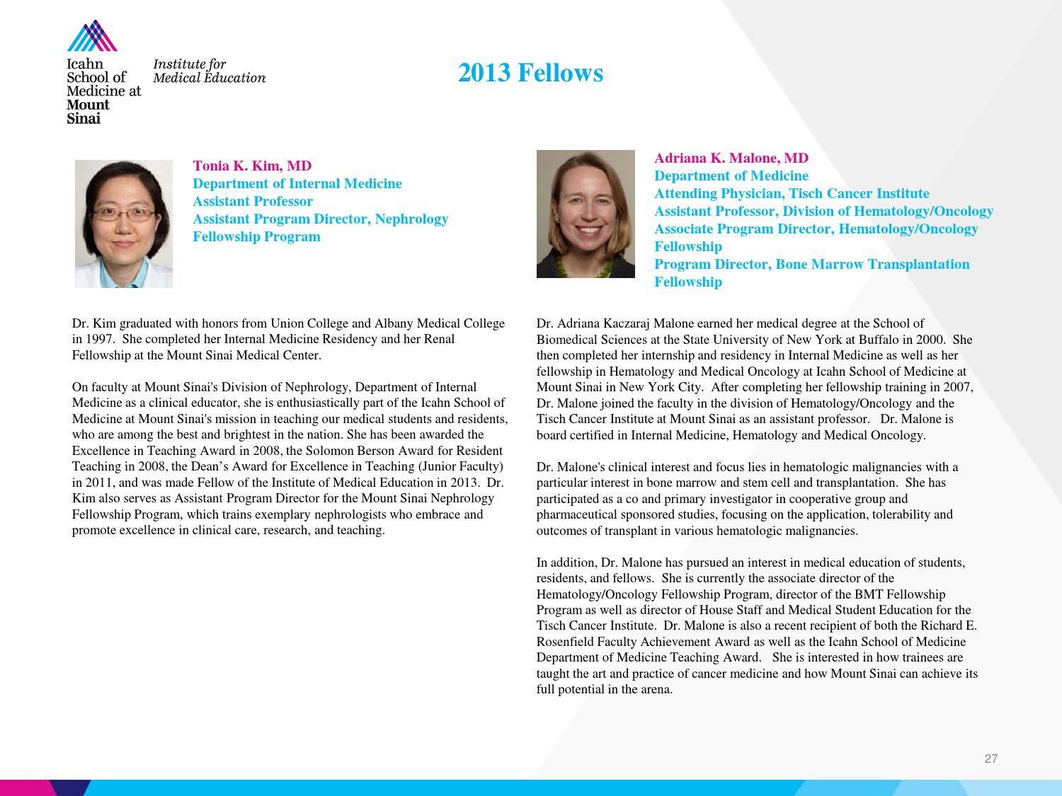 IME Member Directory by Mount Sinai Health System - issuu