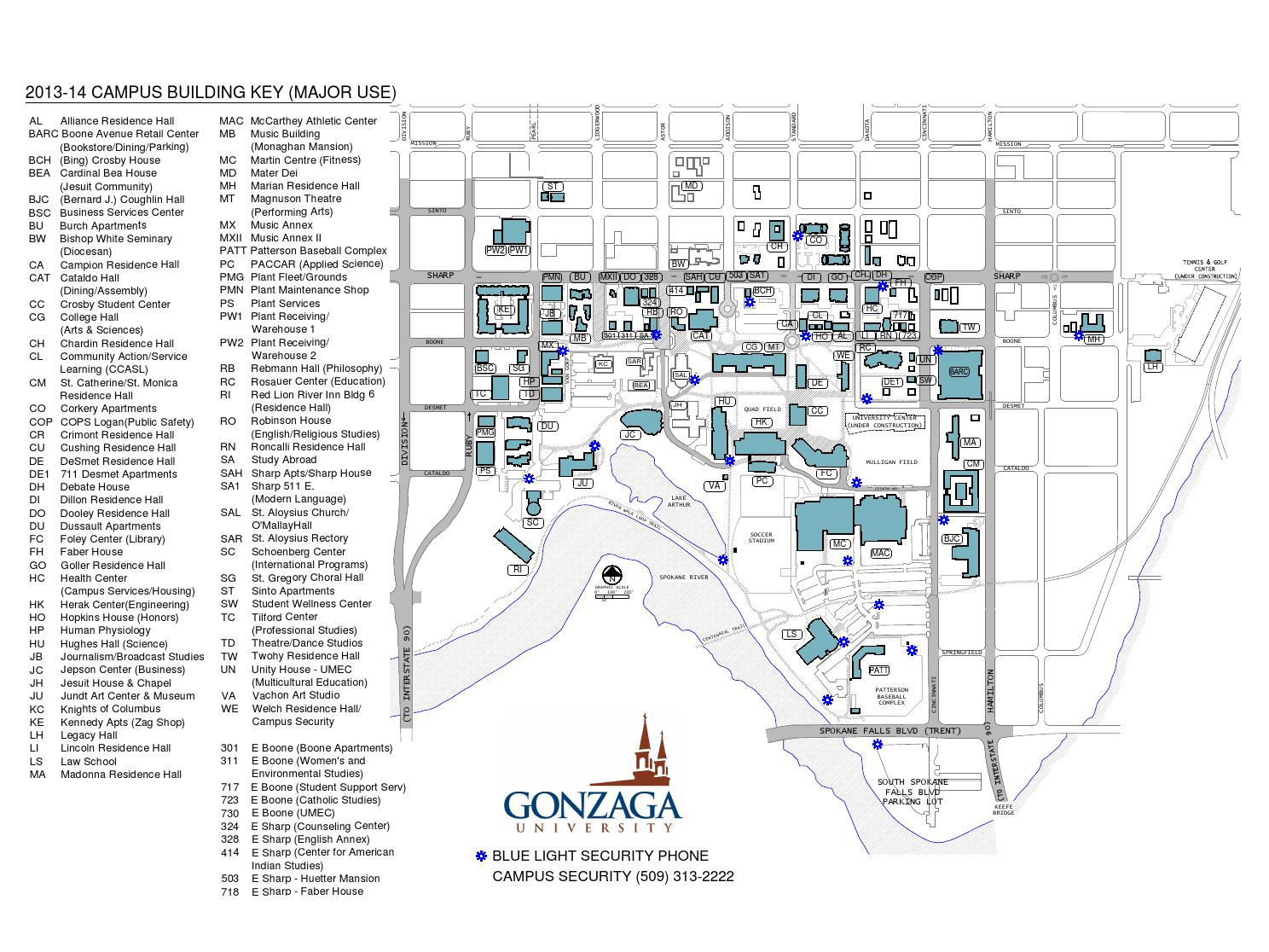 Gonzaga University Campus Map by Gonzaga University - issuu on