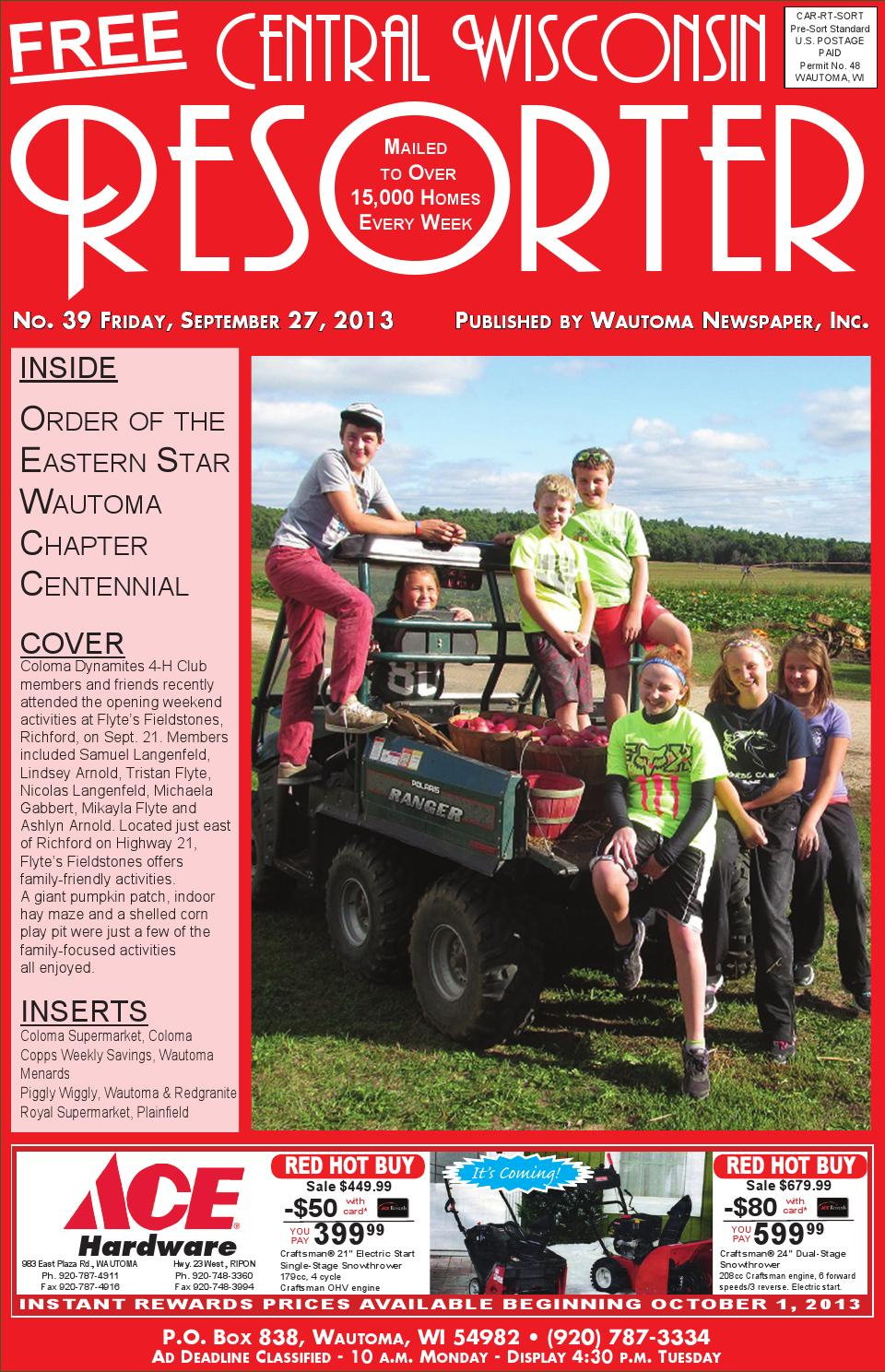 central wisconsin resorter 2013 no 39 by wautoma newspapers issuu