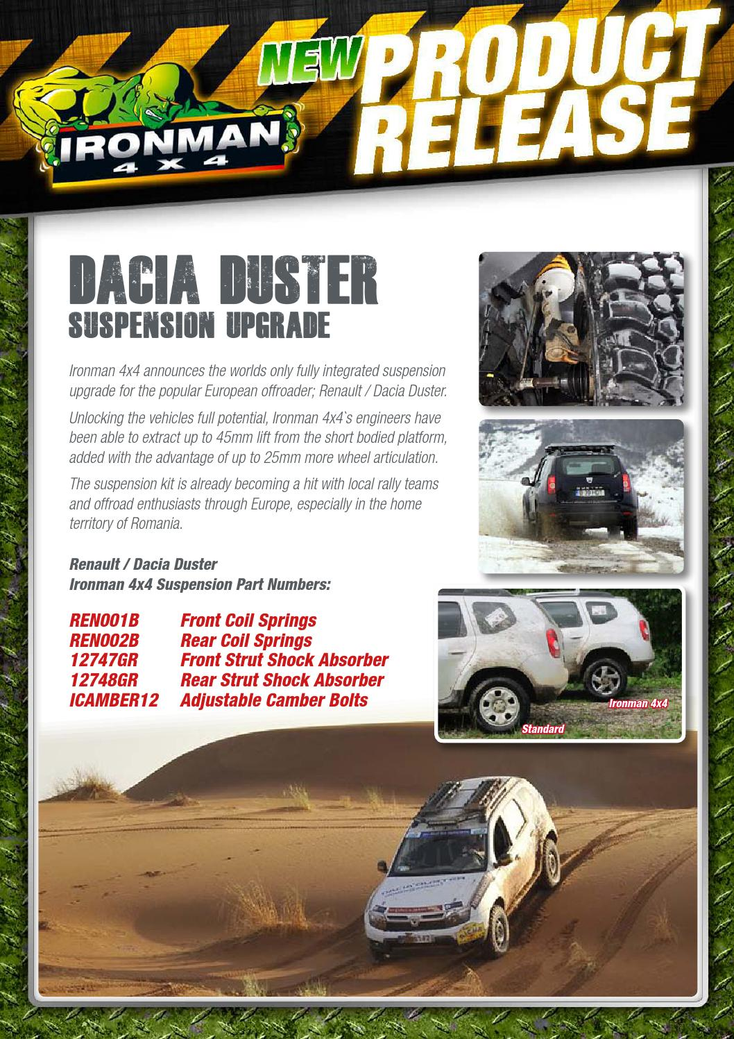 renault duster ironman 4x4 by performance parts issuu. Black Bedroom Furniture Sets. Home Design Ideas