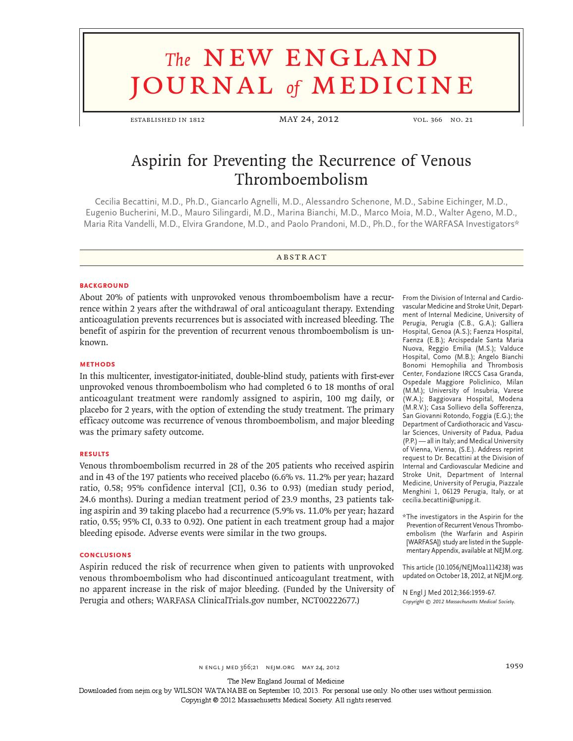 The new england journal medicine - nejm.org