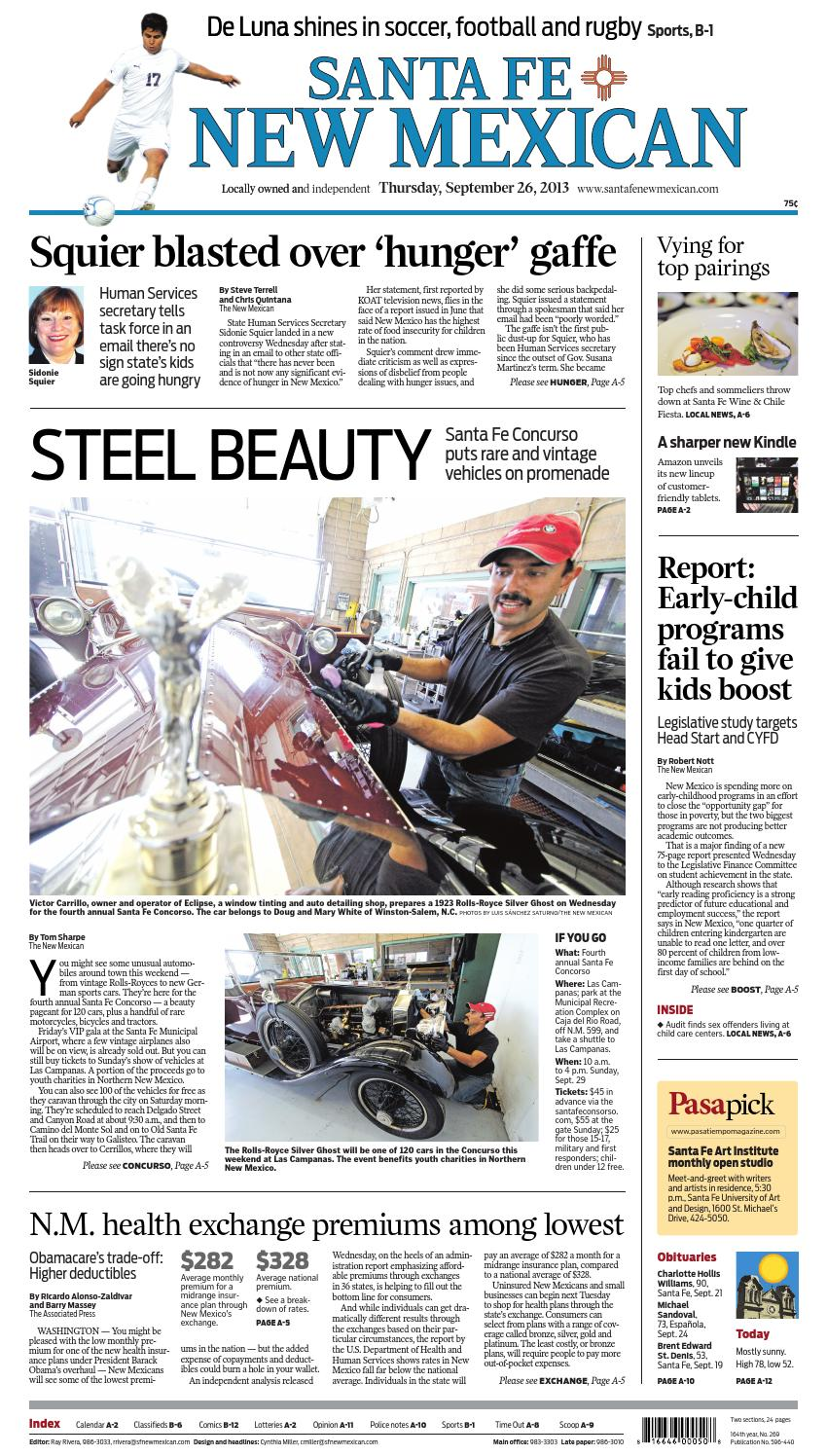 Santa fe new mexican, sept 26, 2013 by The New Mexican - issuu
