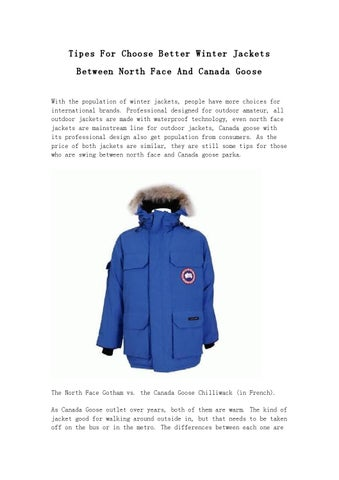 5855b90d08f77 Tipes For Choose Better Winter Jackets Between North Face And Canada Goose  With the population of winter jackets, people have more choices for  international ...