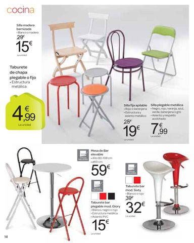 Carrefour hogar catalogo by issuu for Taburete plegable ikea