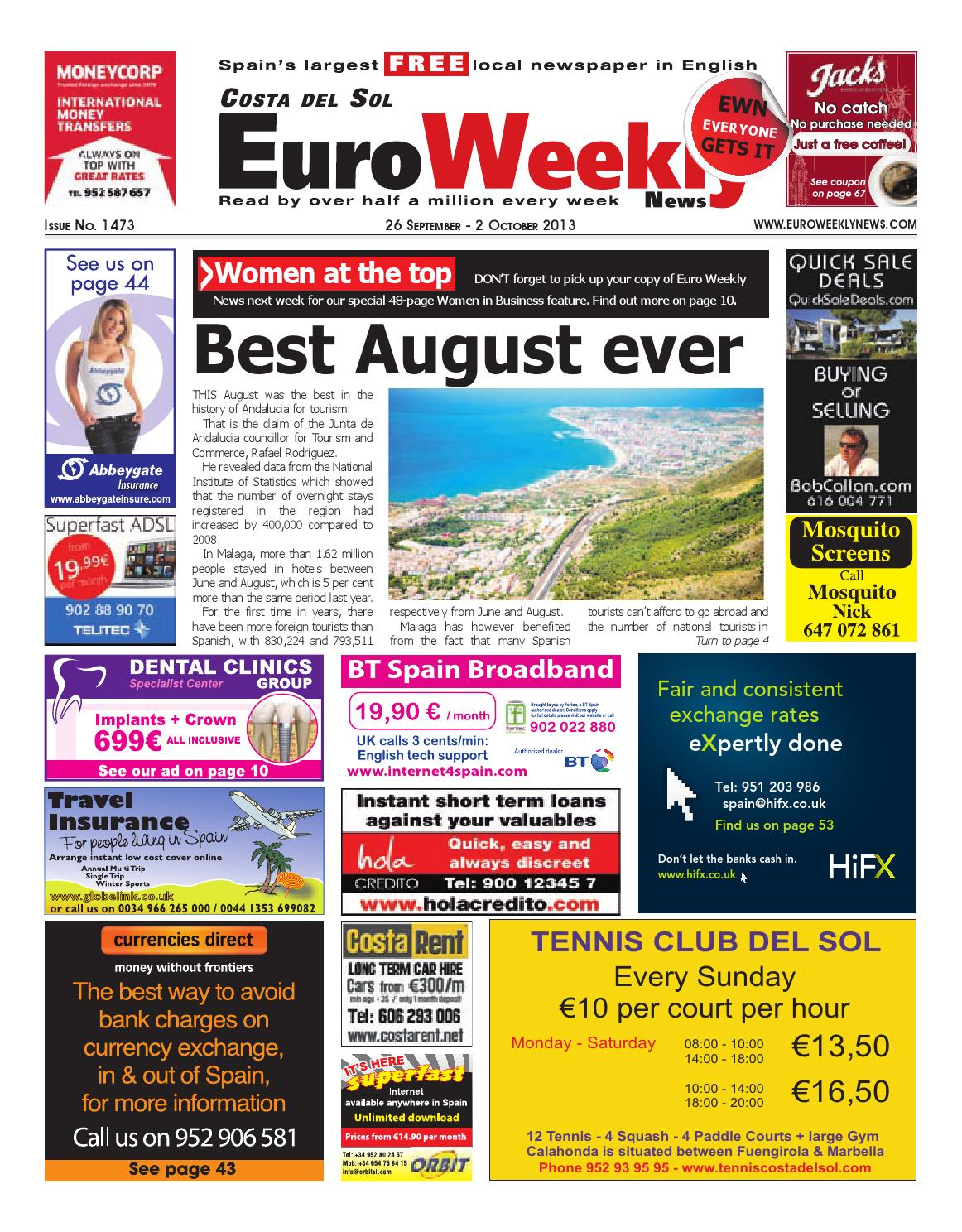 Euro Weekly News - Costa del Sol 26 September - 2 October 2013 Issue 1473  by Euro Weekly News Media S.A. - issuu 48cd5effe162