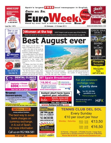 b32bd10e54b Euro Weekly News - Costa del Sol 26 September - 2 October 2013 Issue ...