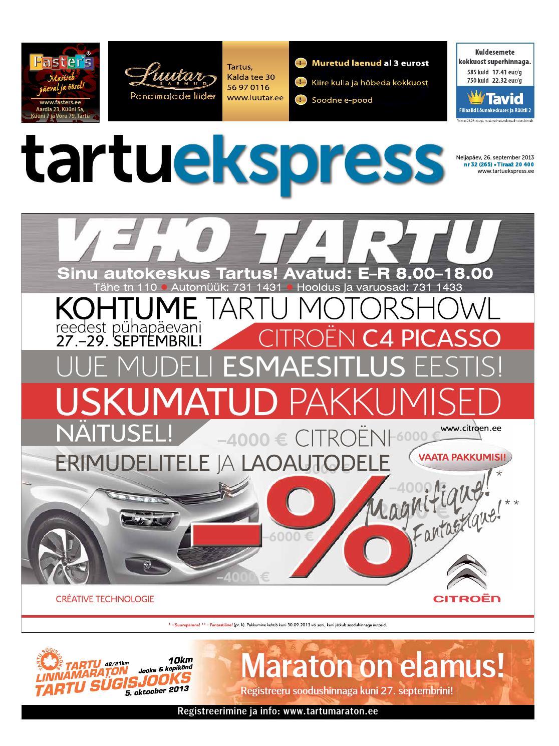c3bb5a00707 Tartu Ekspress, 26.09.2013 by Tartu Ekspress - issuu