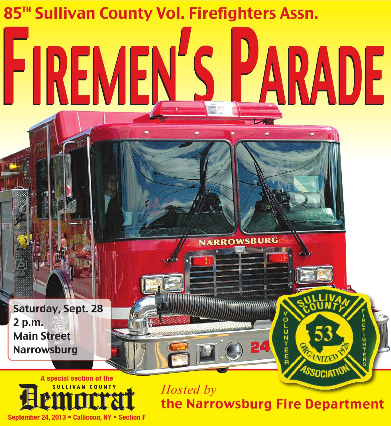 New york sullivan county narrowsburg - Sullivan County Firefighters Parade 2013 By Sullivan County Democrat Catskill Delaware Publications Issuu
