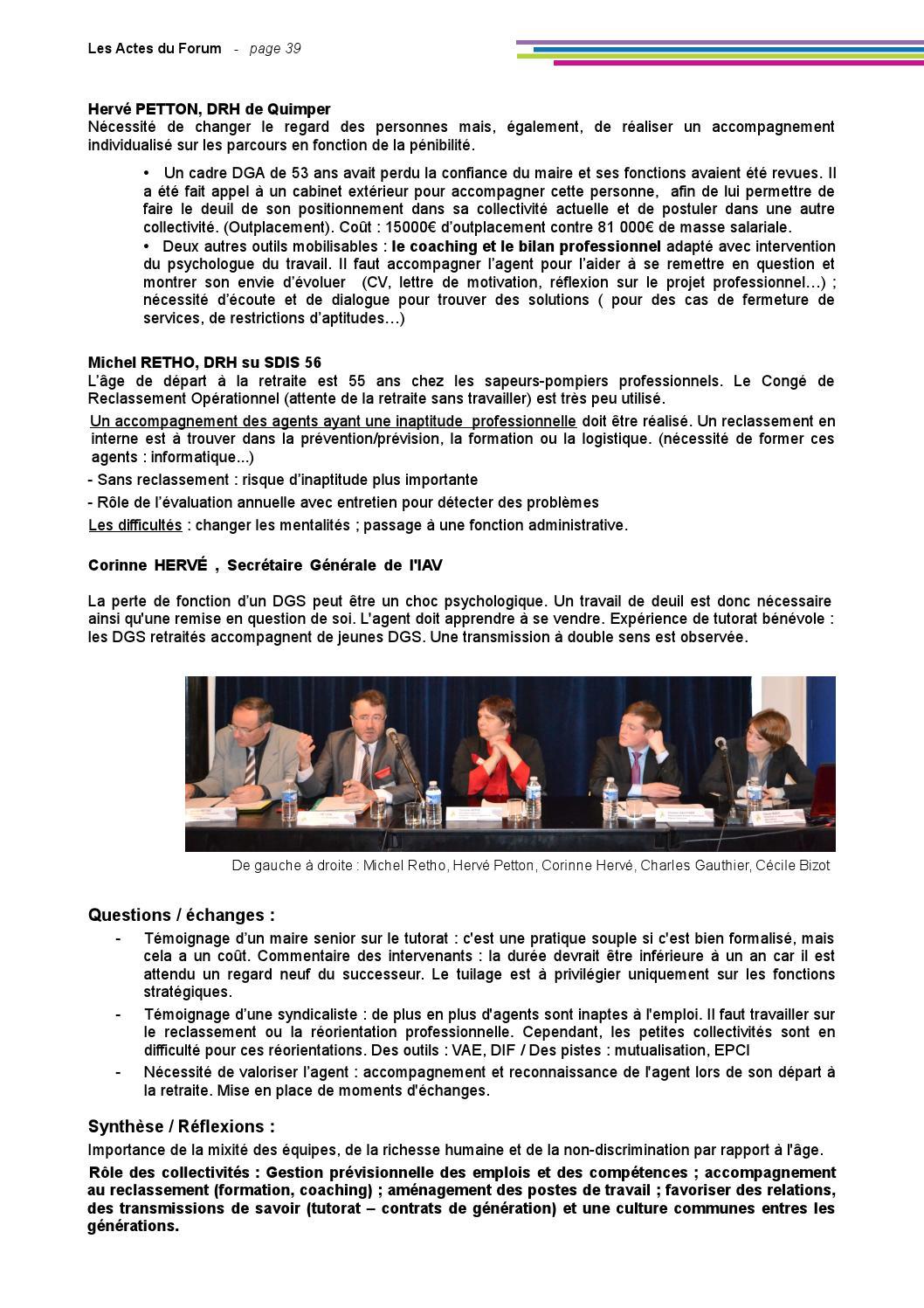 les actes du forum by cdg 35