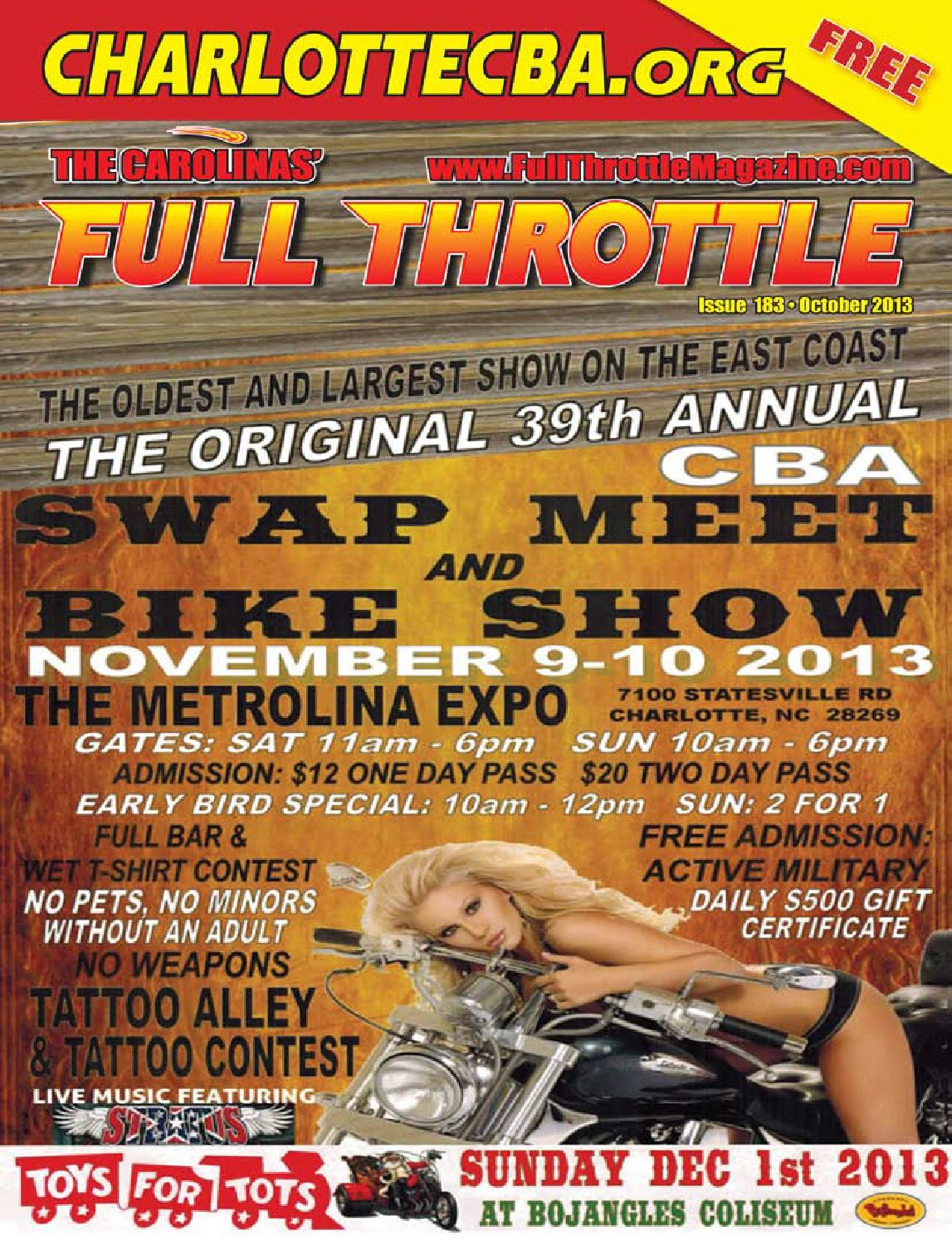 October 2013 Issue 183 By The Carolinas Full Throttle