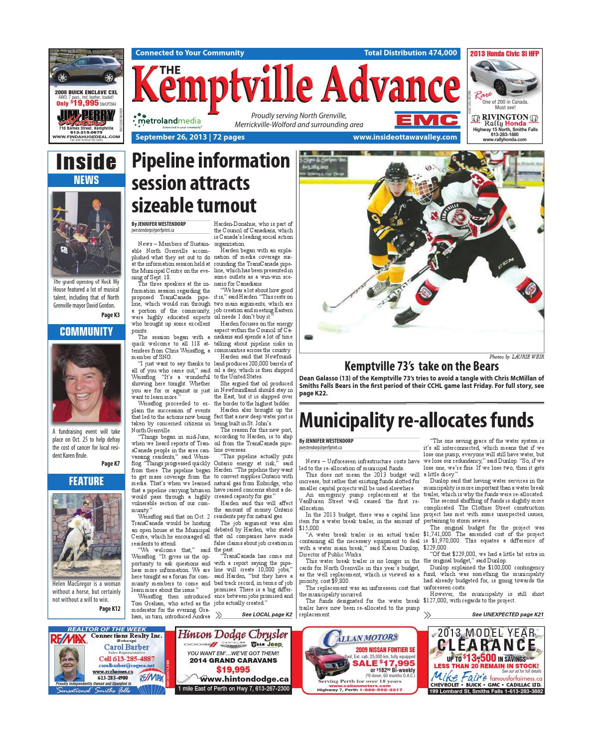 34107b73b42c Kemptville092613 by Metroland East - Kemptville Advance - issuu