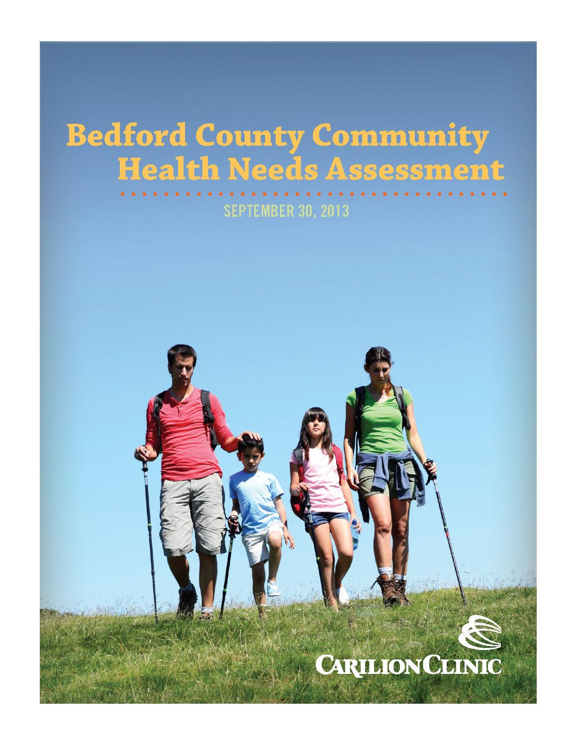 Bedford County Community Health Needs Assessment By Carilion Clinic  Bedford County Community Health Needs Assessment By Carilion Clinic  Issuu