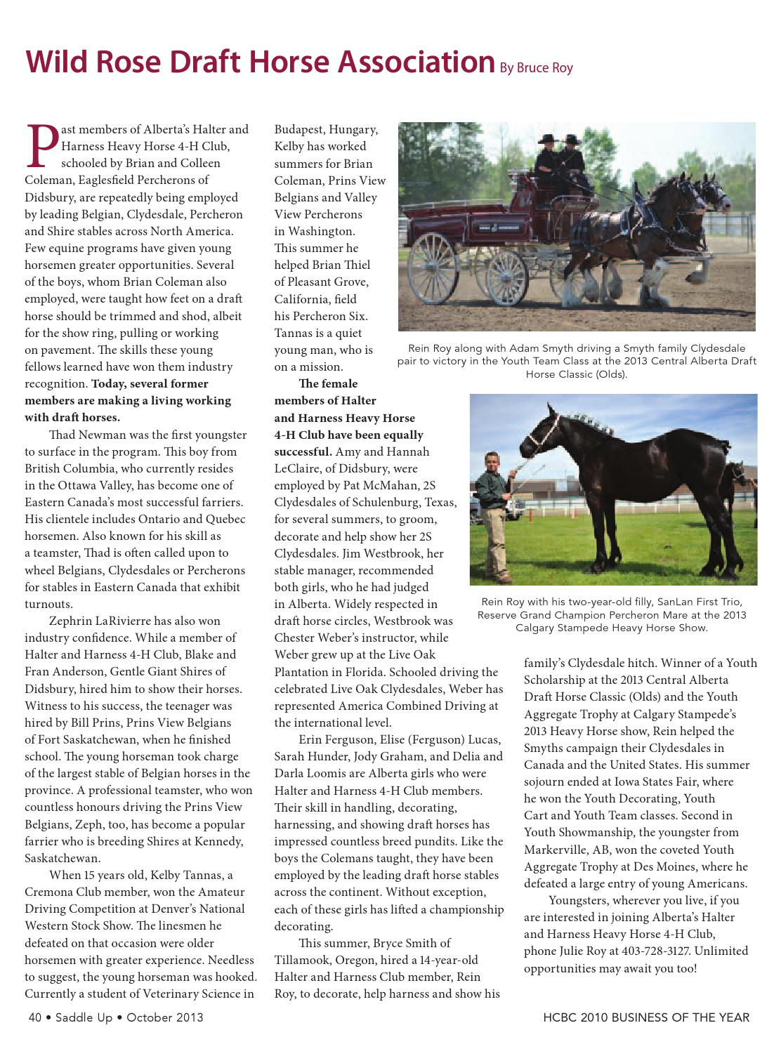 Saddle up Oct 2014 by Saddle Up magazine - Issuu